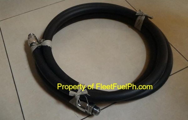 15 ft Fuel Rubber Hose w/ Non Rotary Connectors