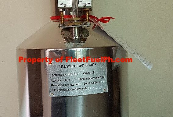 Stainless Calibration Bucket 10L